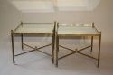 A pair of 1950`s brass and mirror side tables. - picture 1