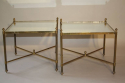 A pair of 1950`s brass and mirror side tables. - picture 2