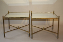 A pair of 1950`s brass and mirror side tables. - picture 3
