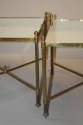 A pair of 1950`s brass and mirror side tables. - picture 4