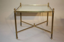 A pair of 1950`s brass and mirror side tables. - picture 5
