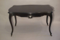 An elegant ebonised desk/centre table with drawer. French Napoleon III c1890 - picture 1