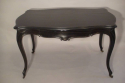 An elegant ebonised desk/centre table with drawer. French Napoleon III c1890 - picture 5