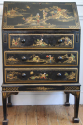 1920`s lacquered and painted Chinese decorated bureau - picture 1