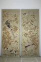 A pair of embroidered silk panels - picture 1