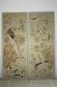 A pair of embroidered silk panels - picture 2