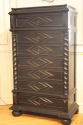 Ebonised Semainier Chest of Drawers, French c1900 - picture 2