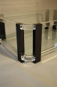 A large black and clear lucite two tier coffee table - picture 5