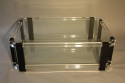 A large black and clear lucite two tier coffee table - picture 6