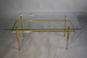 Italian gilt metal table with glass top, c1950 - picture 1