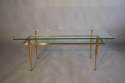 Italian gilt metal table with glass top, c1950 - picture 2