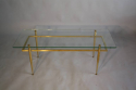 Italian gilt metal table with glass top, c1950 - picture 3