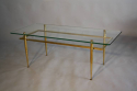 Italian gilt metal table with glass top, c1950 - picture 5
