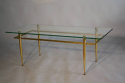 Italian gilt metal table with glass top, c1950 - picture 6