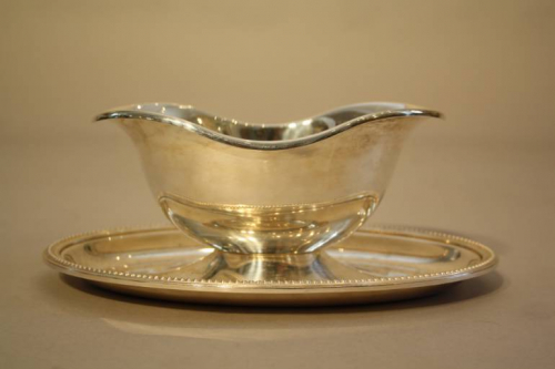 A Christofle Silver Plate Gravy Boat