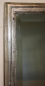 Antique French bistro silver rectangular bevelled glass mirror, c1900 - picture 1