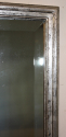Antique French bistro silver rectangular bevelled glass mirror, c1900 - picture 3