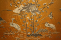 A yellow/gold hand embroidered silk panel - picture 10