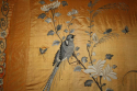 A yellow/gold hand embroidered silk panel - picture 2