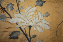 A yellow/gold hand embroidered silk panel - picture 6