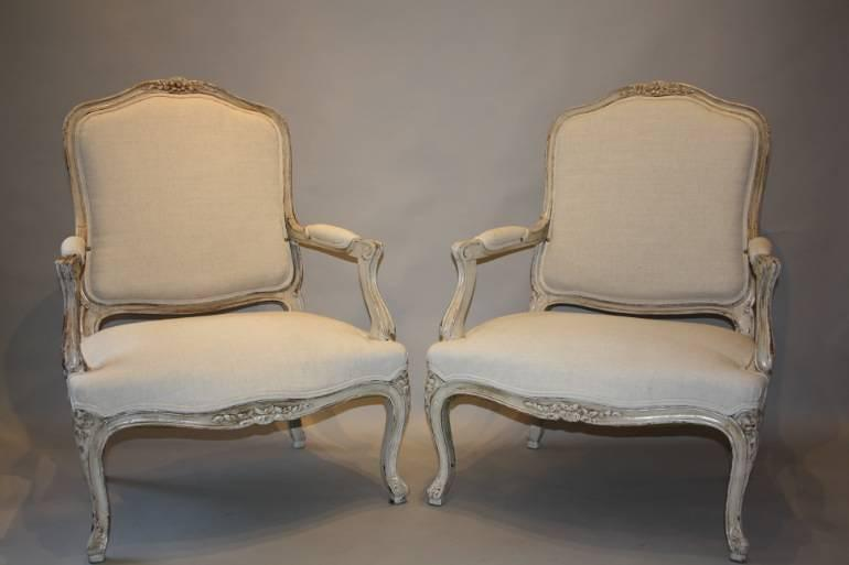 A pair of French Antique fauteuils, C19th