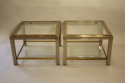 A pair of silver and gold two tier side tables, French c1970 - picture 2