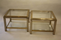 A pair of silver and gold two tier side tables, French c1970 - picture 3