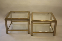 A pair of silver and gold two tier side tables, French c1970 - picture 4