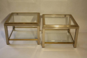 A pair of silver and gold two tier side tables, French c1970 - picture 5