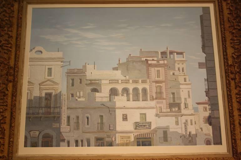 Framed oil - Havana, Cuba, c1950