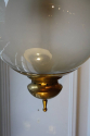 Opaque glass and brass ceiling light/hall lantern by Luigi Caccia Dominioni, Italian c1950 - picture 3
