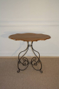 Scroll metal and walnut top centre/occasional table, French. - picture 3
