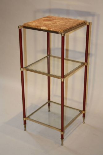 Three tier side table/stand, French c1970