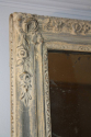 Distressed painted blue grey mirror with original mercury glass plate. French C19th - picture 1