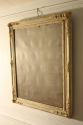 Distressed painted blue grey mirror with original mercury glass plate. French C19th - picture 2