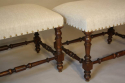 Pair of walnut stools - picture 1