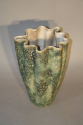 A large hand thrown coil glazed terracotta vase, French c1970 - picture 4