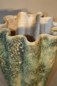 A large hand thrown coil glazed terracotta vase, French c1970 - picture 6