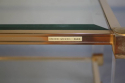A square lucite framed Pierre Vandel coffee table - picture 2