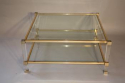 A square lucite framed Pierre Vandel coffee table - picture 4