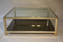 Square gilt metal coffee table - picture 2