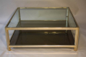 Square gilt metal coffee table - picture 3