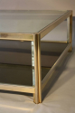 Square gilt metal coffee table - picture 4