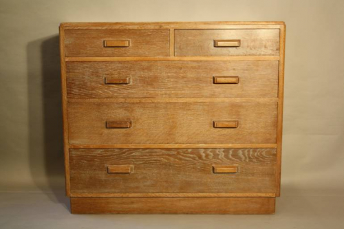 Limed Oak chest of drawers
