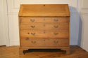 A large bleached Oak George III bureau - picture 2