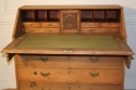 A large bleached Oak George III bureau - picture 4