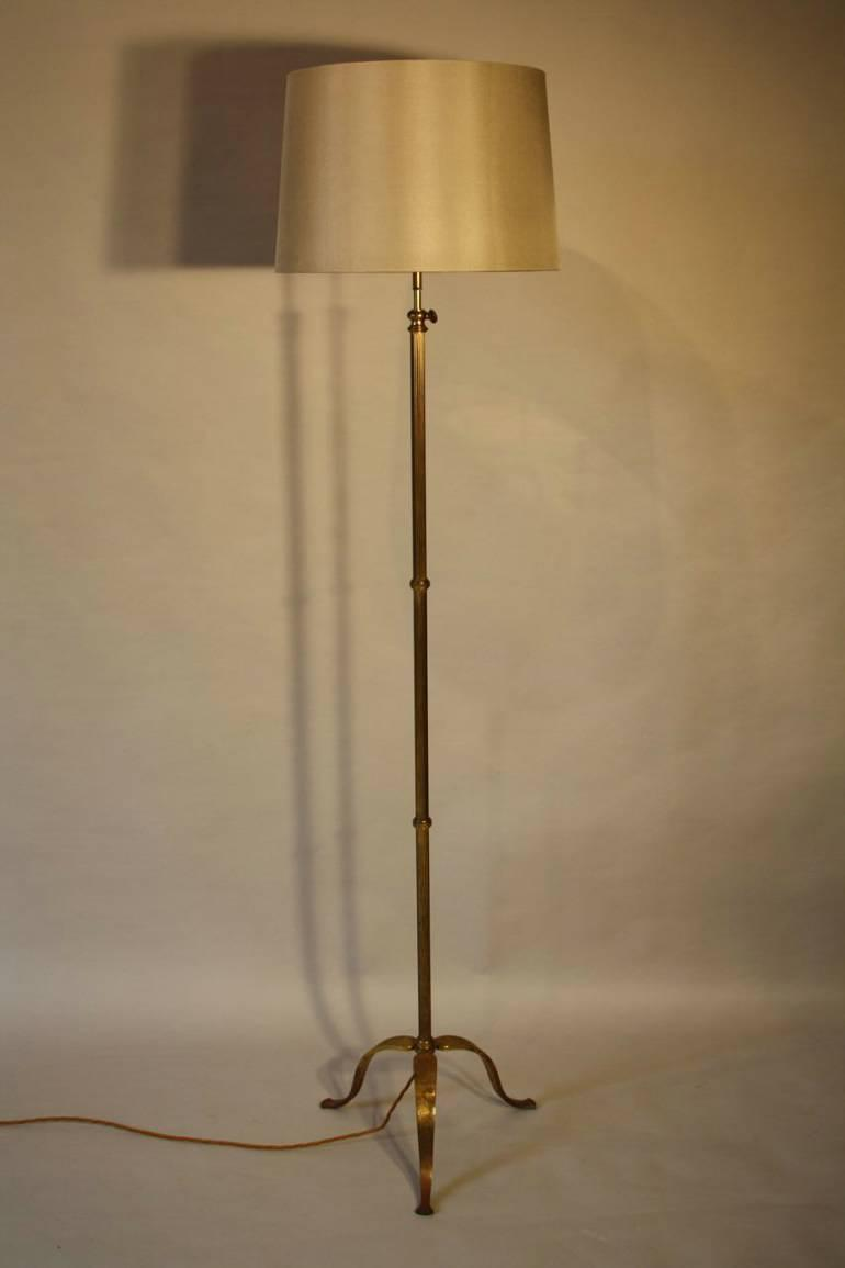 Pretty brass adjustable floor light