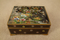 Cloisonne box with floral and bird decoration, c1920 - picture 2