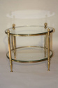 French 1950`s circular two tier side table - picture 1