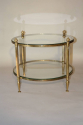 French 1950`s circular two tier side table - picture 2